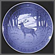1960 royal copenhagen christmas plate - Royal Copenhagen Christmas Plates